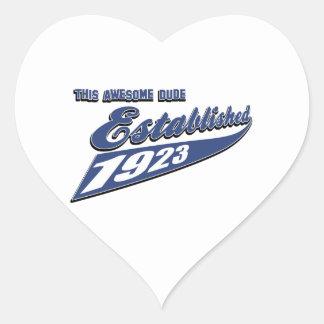 90th birthday designs heart sticker