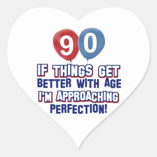 90th birthday designs stickers