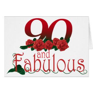 90th birthday flower card