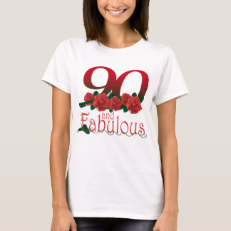 90th birthday flower T-Shirt