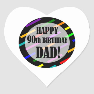 90th Birthday For Dad Stickers