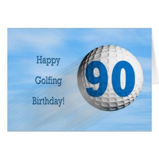 90th birthday golfing card