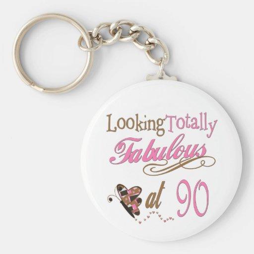90th Birthday Keychains