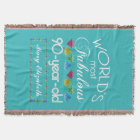 90th Birthday Most Fabulous Colourful Gem Throw Blanket
