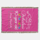 90th Birthday Most Fabulous Colourful Gems Pink Throw Blanket