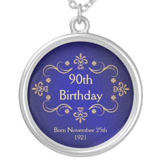90th Birthday Necklace - Vintage Frame Pendant