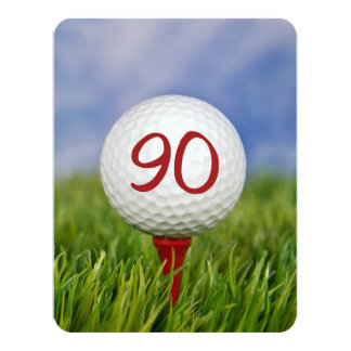 90th Birthday Party Golf theme Card