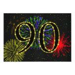 90th birthday party invitate 13 cm x 18 cm invitation card
