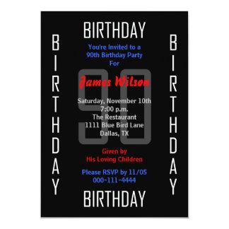 90th Birthday Party Invitation 90