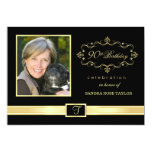 90th Birthday Party Invitations with Photo