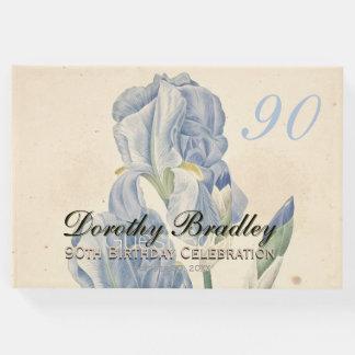90th Birthday Party Irises Custom Guest Book