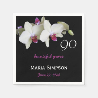 90th Birthday Party Paper Napkins Disposable Napkin