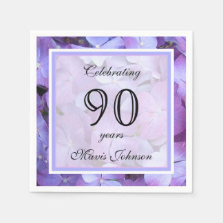 90th Birthday Party Paper Napkins Paper Napkin