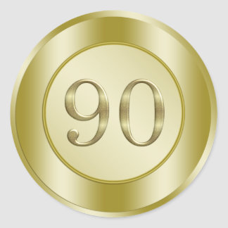 90th Birthday Party Round Sticker