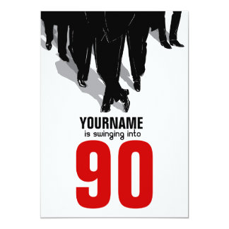 90th Birthday Party Swingers Rat Pack Card