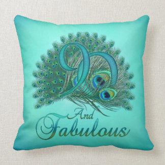 90th Birthday Pillows Throw Cushion