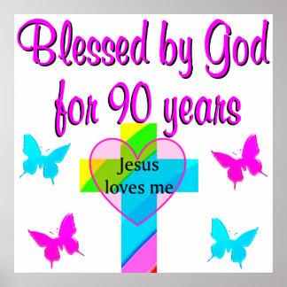 90TH BIRTHDAY PRAYER POSTER