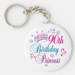 90th Birthday Princess Key Chains