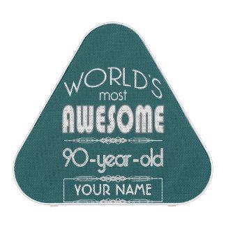 90th Birthday Worlds Best Fabulous Dark Green