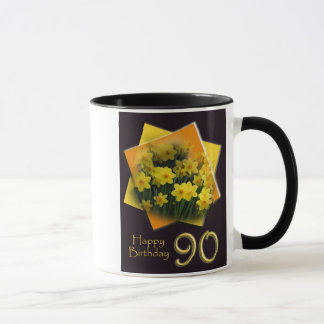 90th Happy Birthday Mug