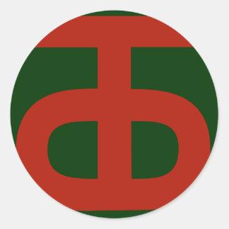 90th Infantry Division Round Sticker