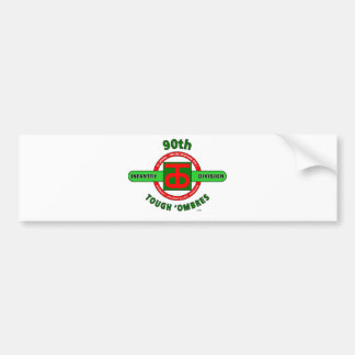 """90TH INFANTRY DIVISION """"TOUGH 'OMBRES"""" DIVISION BUMPER STICKER"""