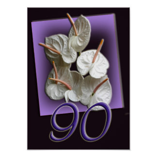 90th Occasion Anthurium poster