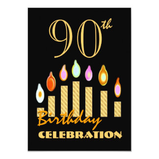 90th or Any Year Birthday Gold Candles Budget C10 Card