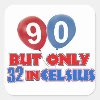 90th year birthday designs sticker