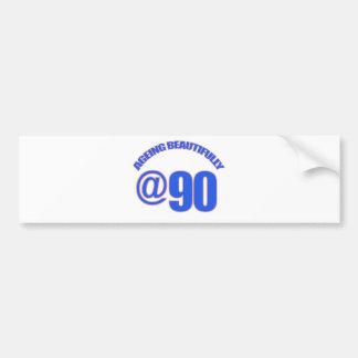 90th year old designs bumper sticker