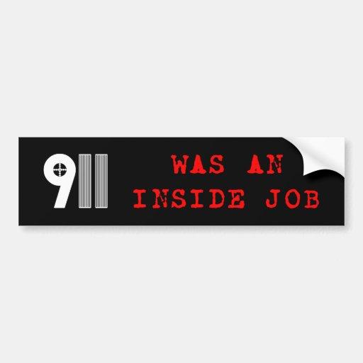 911 Bumper Sticker