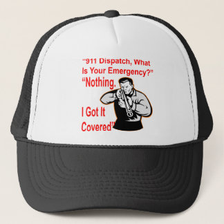 911 Dispatch What Is Your Emergency Trucker Hat