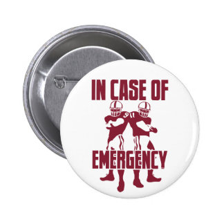 911 Emergency Pinback Button
