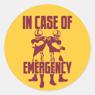 911 Emergency Round Sticker