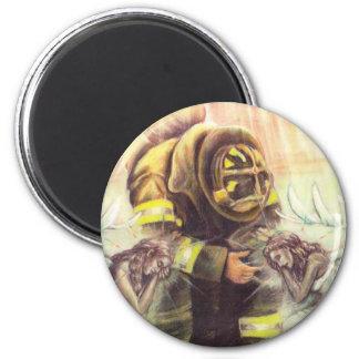 911 Fireman Angels 6 Cm Round Magnet