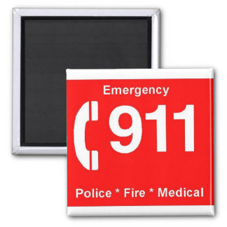 911 SQUARE MAGNET