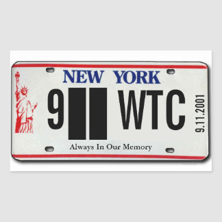911 Memorial NY License Plate Sticker 2