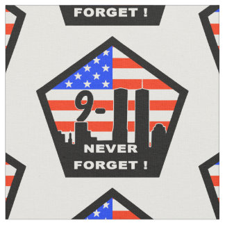911 never forget  fabric