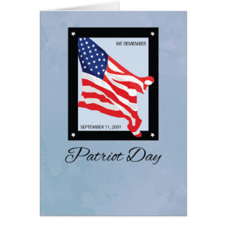 911 Patriot Day, Remembrance Flag Greeting Card