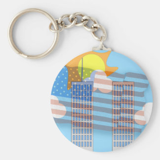 911 Tribute - Plain Key Ring