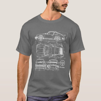 911 Turbo Blueprint T-shirt
