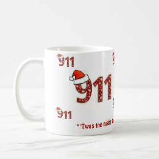 911 Twas the Night before Christmas Coffee Mug