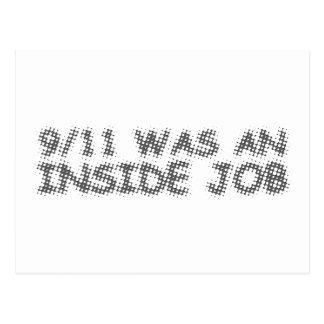 911 was an inside job, bubble postcard