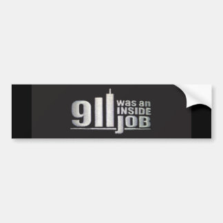 911 was an inside job bumper sticker
