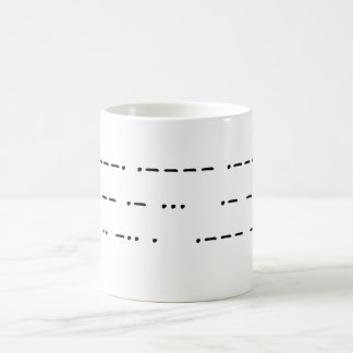 911 was an inside job (morse code) coffee mug