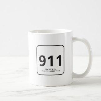 911 WHITE COFFEE MUG
