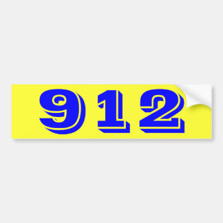 912 Nine Twelve Bumper Sticker