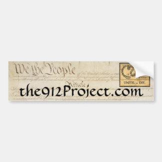 912 Project-Bumper Sticker Bumper Sticker