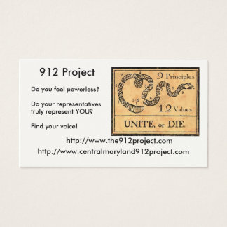 912 Project Business Card