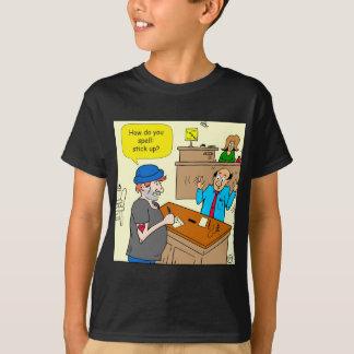 916 stick up at the bank cartoon T-Shirt